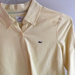 VV LONG SLEEVE BUTTON DOWN YELLOW